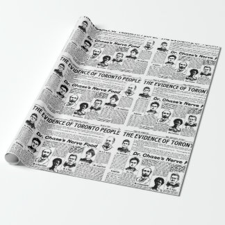 Papier Cadeau Papier vintage de cadeau de journal d'habitants de