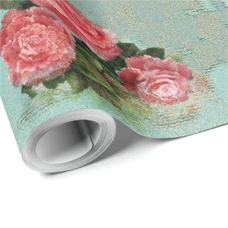 Papier Cadeau Papier vintage de fleur - papier d'emballage
