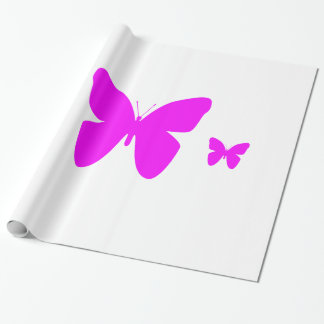 Papier Cadeau Papillon rose