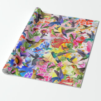 Papier Cadeau Papillons et fleurs