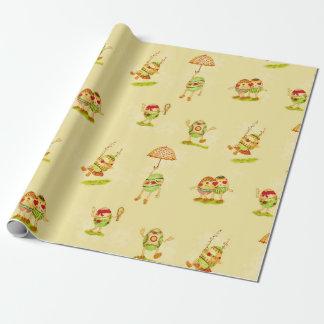 Papier Cadeau Pâques vintage enveloppant le petit pain