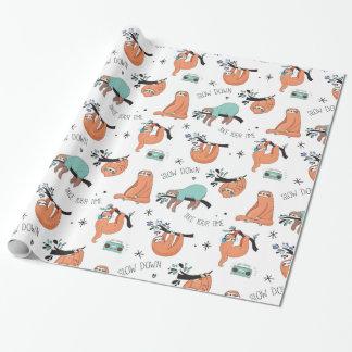 Papier Cadeau Paresses paresseuses mignonnes