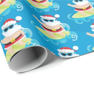 Papier Cadeau Partie surfante d'enveloppe de Père Noël de Noël