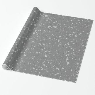 Papier Cadeau Parties scintillantes Stars4 - Argent