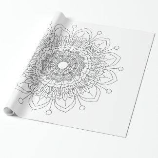 Papier Cadeau Patte décoratif vintage d'Oriental d'éléments de
