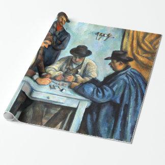 Papier Cadeau Paul Cezanne les joueurs de carte