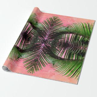 Papier Cadeau Paumes hawaïennes royales