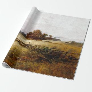 Papier Cadeau Paysage d'automne de portier de Charles Ethan