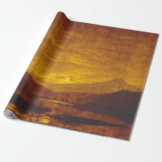 Papier Cadeau Paysage montagneux de rivière de Caspar David