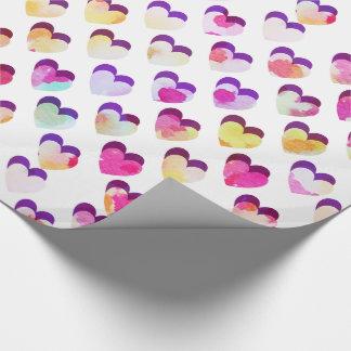 Papier Cadeau Paysage nuageux peint de montagne