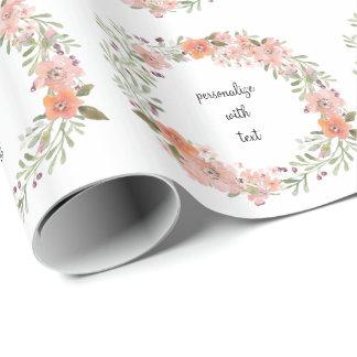 Papier Cadeau Pêche romantique florale