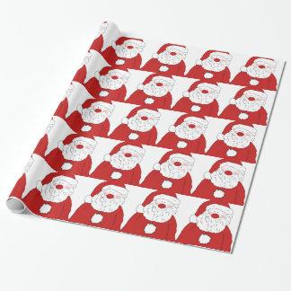 Papier Cadeau Père Noël de rougissement mignon