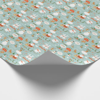 Papier Cadeau Père Noël et papier d'emballage orienté de