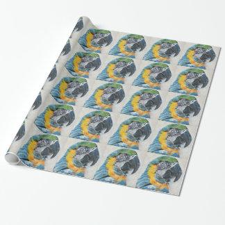 Papier Cadeau Perroquet bleu