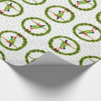 Papier Cadeau Perroquet de Nanday Concure dans le casquette de