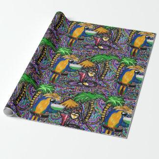 Papier Cadeau Perroquet de partie de plage