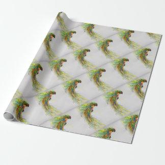 Papier Cadeau Perroquet Swooping