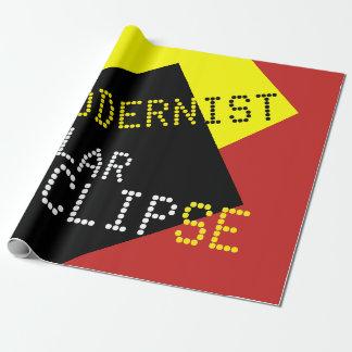 Papier Cadeau Personnalisable drôle moderniste d'éclipse solaire