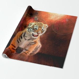 Papier Cadeau Petit bébé mignon de tigre