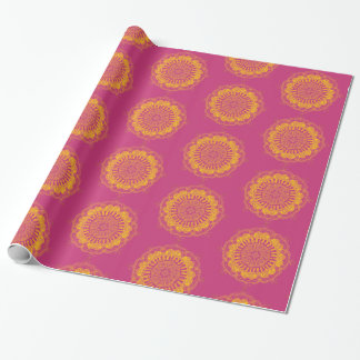 Papier Cadeau Petit pain coloré de papier d'emballage de mandala