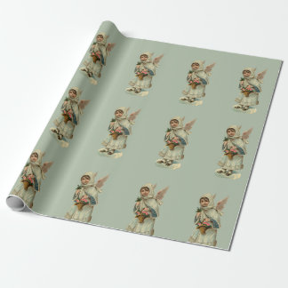 Papier Cadeau Petits anges vintages
