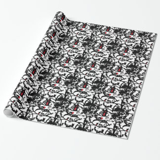 Papier Cadeau Peu de papier d'emballage de capuchon rouge