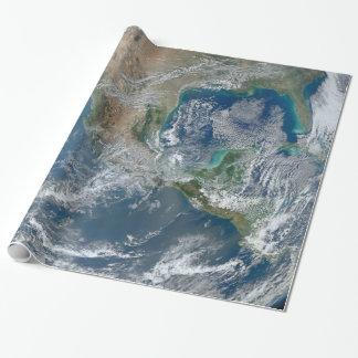 Papier Cadeau Photo de planète de la terre de l'espace