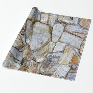 Papier Cadeau Photo de texture de mur de roche sur le papier