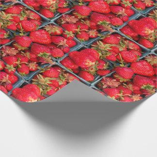 Papier Cadeau Photo fraîche de fraises