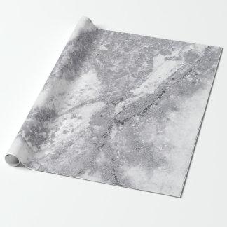 Papier Cadeau Pierre de marbre blanche abstraite de Carrare de