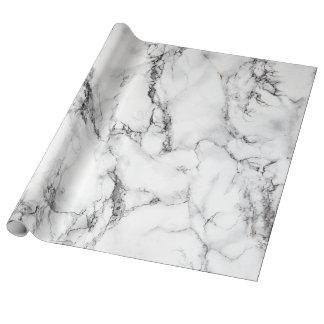 Papier Cadeau pierre de marbre blanche élégante moderne