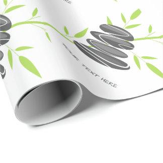 Papier Cadeau Pierres de caillou d'art de zen empilant le papier