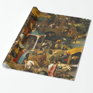 Papier Cadeau Pieter Bruegel l'aîné - les proverbes néerlandais