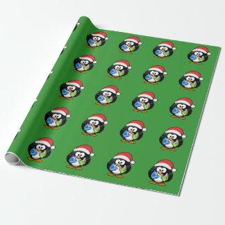 Papier Cadeau Pingouin de Noël
