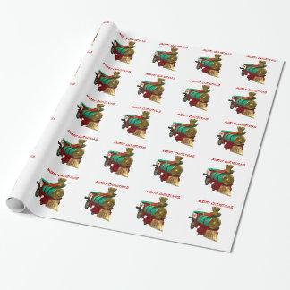 Papier Cadeau Pingouin et train de Noël