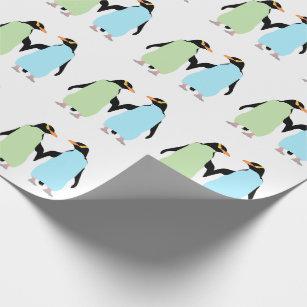 Papier Cadeau Pingouins de gay pride tenant des mains