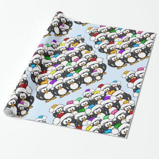 Papier Cadeau Pingouins de Noël