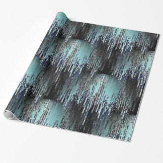 Papier Cadeau Pixels de glace