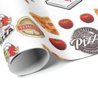Papier Cadeau Pizza enveloppant le papier brillant