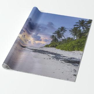 Papier Cadeau Plage tropicale au coucher du soleil
