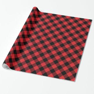 Papier Cadeau Plaid confortable plaid de Buffalo rouge et noir