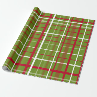 Papier Cadeau Plaid de tartan de Noël