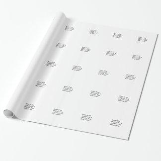 Papier Cadeau Plaisanterie de bébé - faites cuire au four à 98