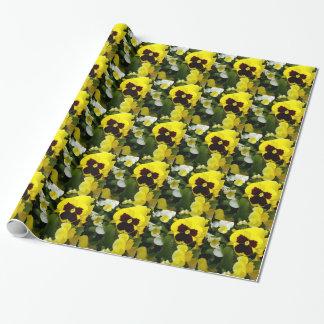 Papier Cadeau Plaisirs de pensée de Brown jaune,