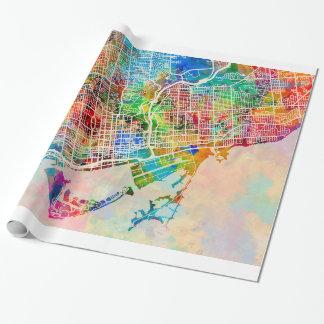 Papier Cadeau Plan de ville de ville de Toronto