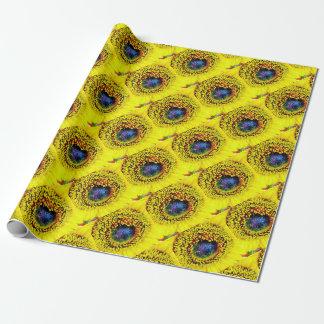 Papier Cadeau Plan rapproché jaune