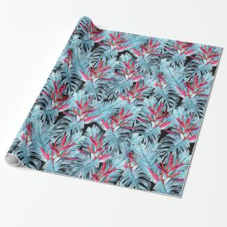 Papier Cadeau Plantes tropicales 1. plante, feuille, tropical,