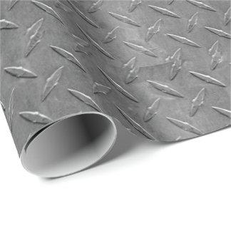 Papier Cadeau plat gris de diamant