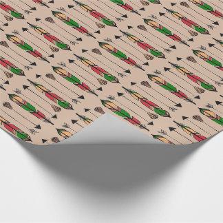 Papier Cadeau Plumes et papier d'emballage de flèches