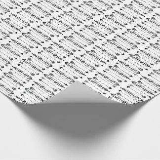 Papier Cadeau Plumes simples et papier d'emballage de flèches